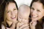 אמהות מאושרות משפחות הקשת. תמונה באדיבות ingimage