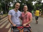 רונן (משמאל) ורועי בסאו פאולו. צילום ביתי