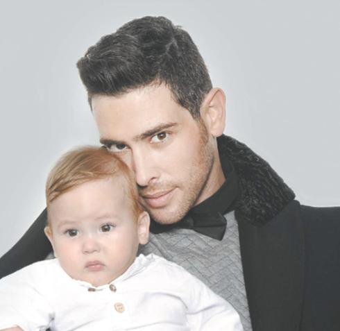 אמיר פרישר גוטמן ובנו רוי. צילום - איתן טל