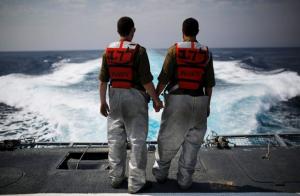 חיילים בחיל הים, בחודש שעבר. למצולמים אין קשר לכתבה. צילום רוייטרס